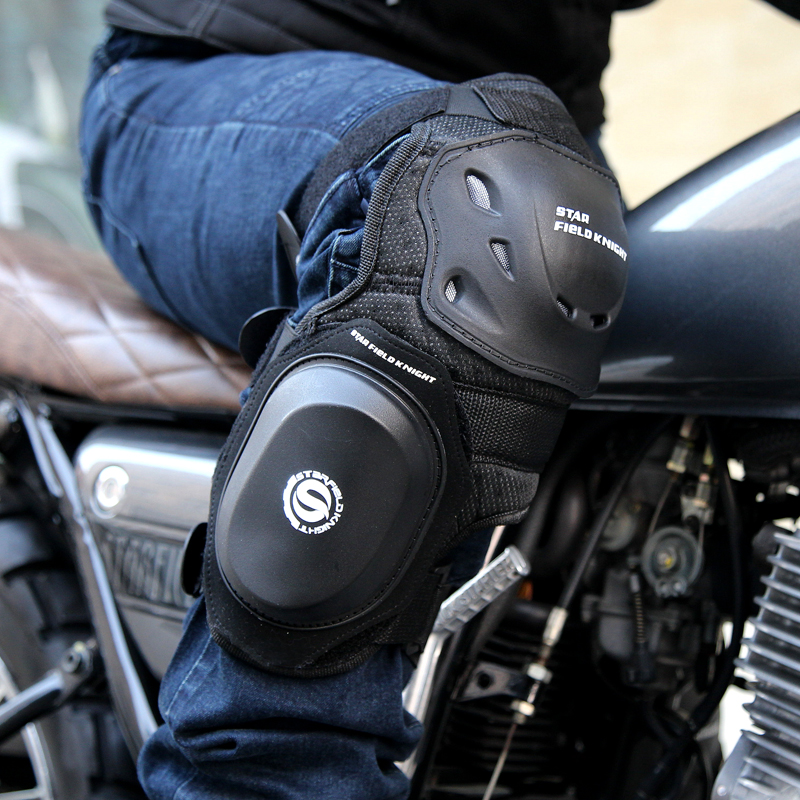 Motorcycle Knee Pads Moto Racing Protective Gear Cross Outfit Kneepads Guard Folding Equipment Crashproof Accessories