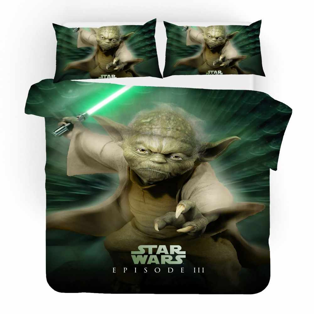 Home Textiles Star Wars Bedroom Bedding Set Full Queen King Single Double Size Boy Girl Custom Bed Linen Set with Pillowcase