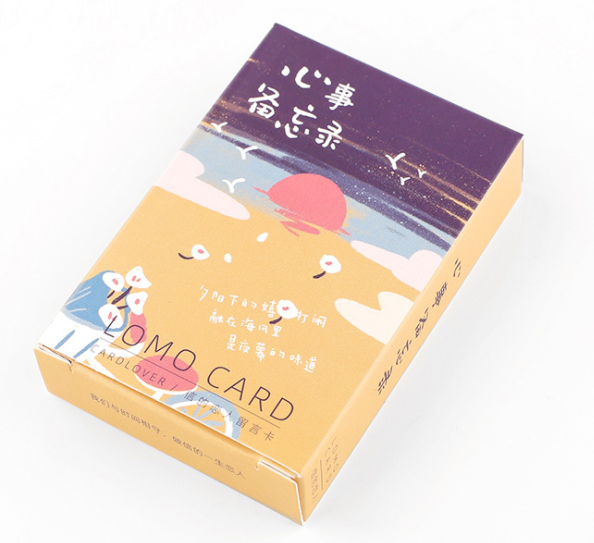 52mm*80mm Write Mood Paper Greeting Card Lomo Card(1pack=28pieces)