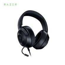 Razer fone de ouvido gamer kraken essential x, fone de ouvido com som surround 7.1, ultra leve e dobrável, microfone cardioid