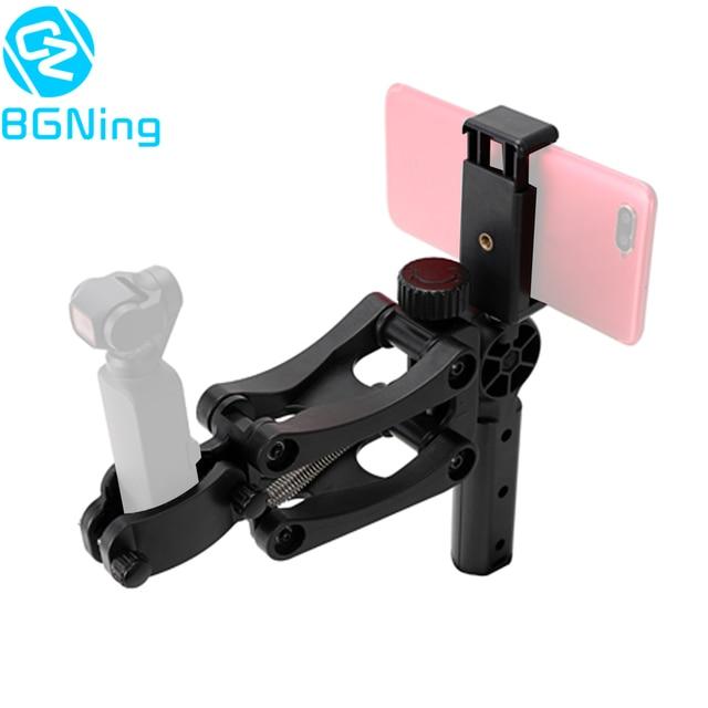 4 eje Z Eje estabilizador para DJI OSMO bolsillo Smartphone Steadycam cardán soporte amortiguador de choques de expansión soporte base agarradera