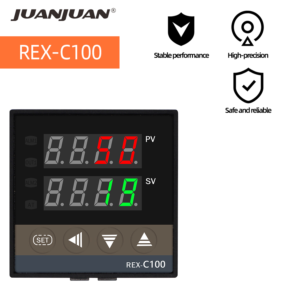 <font><b>REX</b></font>-C100 Temperature Controller Thermostat PID 0 to 400 °c K Digital Controller Thermocouple <font><b>REX</b></font>-<font><b>C100FK02</b></font>-<font><b>V*AN</b></font> SSR output 30% of image