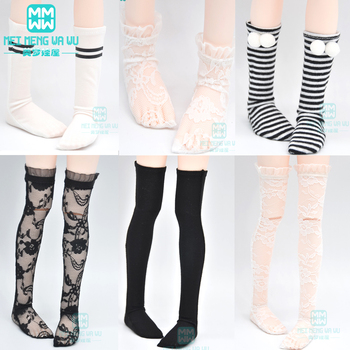 Doll accessories for 1/3 1/4 1/6 BJD DD SD GEM,XAGADOLL MYOU YOSD doll fashion Lace socks long stockings candy colors hat for 1 6 1 4 1 3 bjd dd sd msd yosd doll accessories