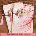 Bloco de notas chinês do planejador da moda do vintage 21x14 cm diário bullet diário caderno bela coleção encadernação livros de escrita