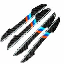 цена на Mouldings Protection Stickers Trim Car Side Door Edge Guard Carbon Fiber Look For BMW 4pcs Car Protection Stickers Car Styling