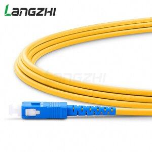 Image 3 - 10 шт. SC UPC to SC UPC Simplex 2,0 мм 3,0 мм ПВХ одномодовый волоконный патч кабель Соединительный волоконный патч корд Fibra Optica Ftth