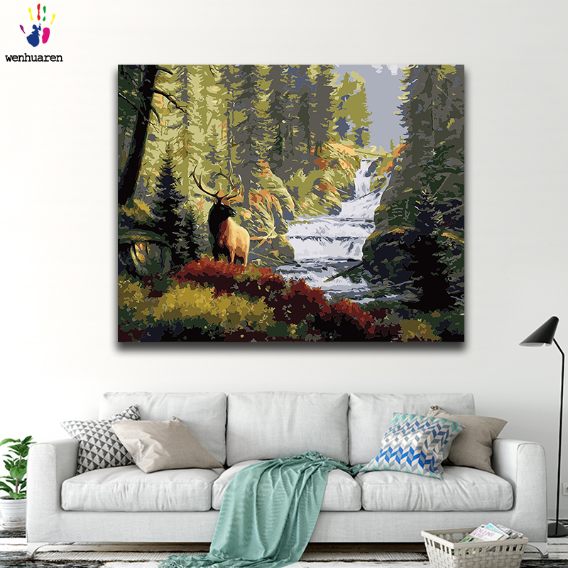 A forest where trees grow very close to each other. Diy Coloring Paint By Numbers Forest Beauty Paintings Landscape Canvas One Piece 50x40 60x50 75x60 90x70 100x80 Classical Mega Deal 8b1d Goteborgsaventyrscenter