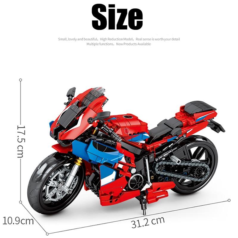 SEMBO Block Small Motorcycle MOC Vehicle Model
