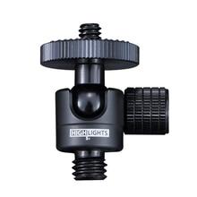360สมาร์ทปรับMiniกล้องหัวลูก3 \ 8 1 \ 4อลูมิเนียมBallheads DSLR 6มม.โปรเจคเตอร์ขาตั้งกล้องหัวโลหะ