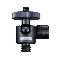 360 ayarlanabilir akıllı mini bilya kafa kamera 3 8 1 \ 4 alüminyum alaşımlı ballheads DSLR 6mm konu projektör tripod döngüsü kafa metal
