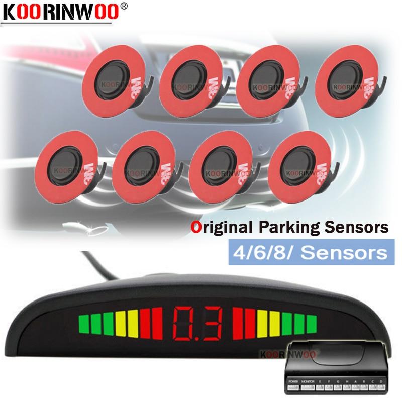 Koorinwoo Регулируемый плоский 16,5 радиолокационные датчики Автомобильный светодиодный датчик парковки с монитором детектор уровня воды с звонок с зуммером слепое место|Датчики парковки|   | АлиЭкспресс
