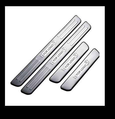 stainless steel Door Sill Scuff Plate Welcome Pedal For <font><b>Mazda</b></font> 3 Axela <font><b>Mazda</b></font> 6 ATENZA <font><b>CX</b></font>-<font><b>5</b></font> 2013 2014 <font><b>2015</b></font> <font><b>2016</b></font> image