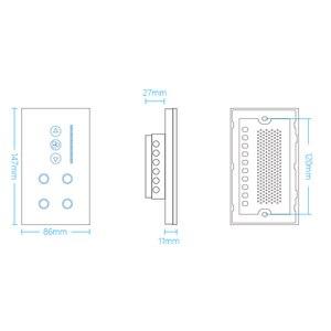 Image 2 - ASEER Smart WIFI Interruttore 4 gang interruttore della luce WIFI con wifi Interruttore Ventilatore A Soffitto, bianco/Nero Cristallo Pannello di Vetro, Lavoro alexa,google