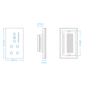 Image 2 - ASEER Smart WIFI Switch 4 gang  WIFI light switch with wifi Ceiling Fan Switch,White/Black Crystal Glass Panel,Work alexa,google