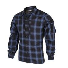 Commuter Shirt Combat Tactical TRN Spring BAC Plaid Thin-Version Blue Autumn XXL