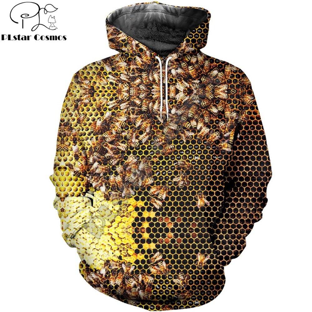 PLstar Cosmos Fashion Men Hoodies Insect Bee 3D Print Hoodie Unisex Casual Streetwear Hoody Sweatshirt Sudadera Hombre