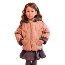 Пуховик для маленьких девочек средней длины пуховик + хлопковый