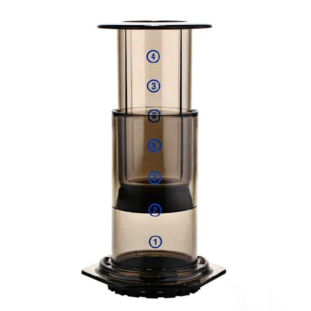 OOTDTY New Filter Glass Espresso Coffee Maker Portable Cafe French Press CafeCoffee Pot For AeroPress Machine 1