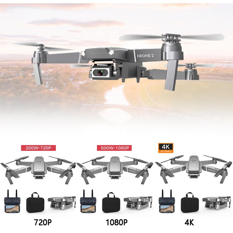 E68 Drone HD Wide Angle 4K WIFI 1080P FPV Drone Video Live Recording Quadcopter Height To Maintain Drone Camera 6 AXIS RC Drone