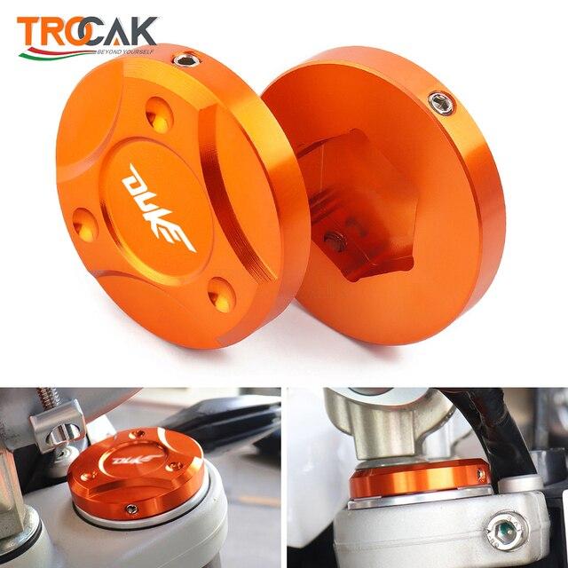 For KTM DUKE 125 200 250 390 690 990 1090 1190 1290 2013 2019 Motorcycle CNC Aluminum Front Fork Suspension Top Cover Cap