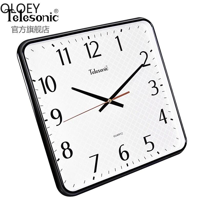 White Modern Wall Clock Large Living