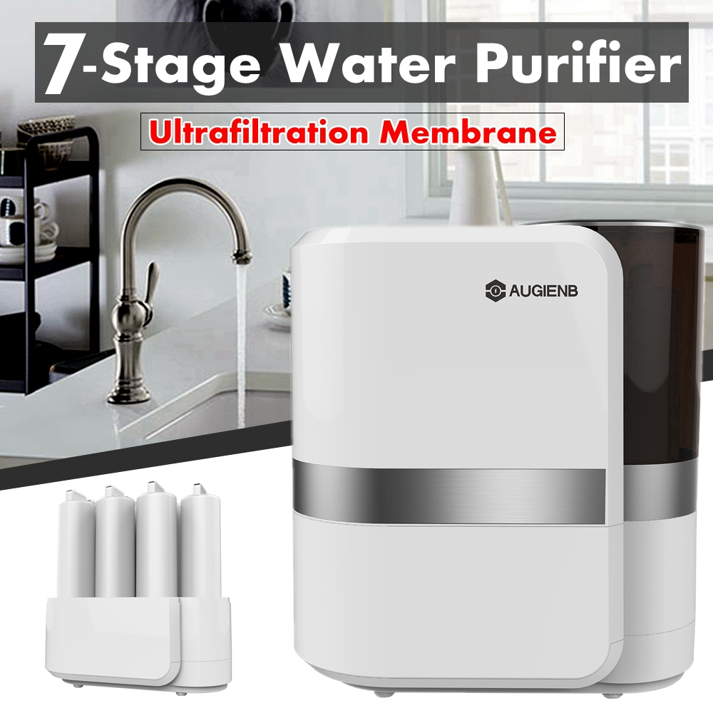 AUGIENB Reverse Osmosis Water Filtration System - 7 Stage RO Water Purifier - Under Sink Water Filter + Faucet -for Lead Arsenic
