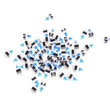 50 PCS/Lot 6Pin poussoir Tactile puissance Micro interrupteur auto-verrouillage bouton marche/arrêt interrupteur de verrouillage en gros électronique 7*7mm