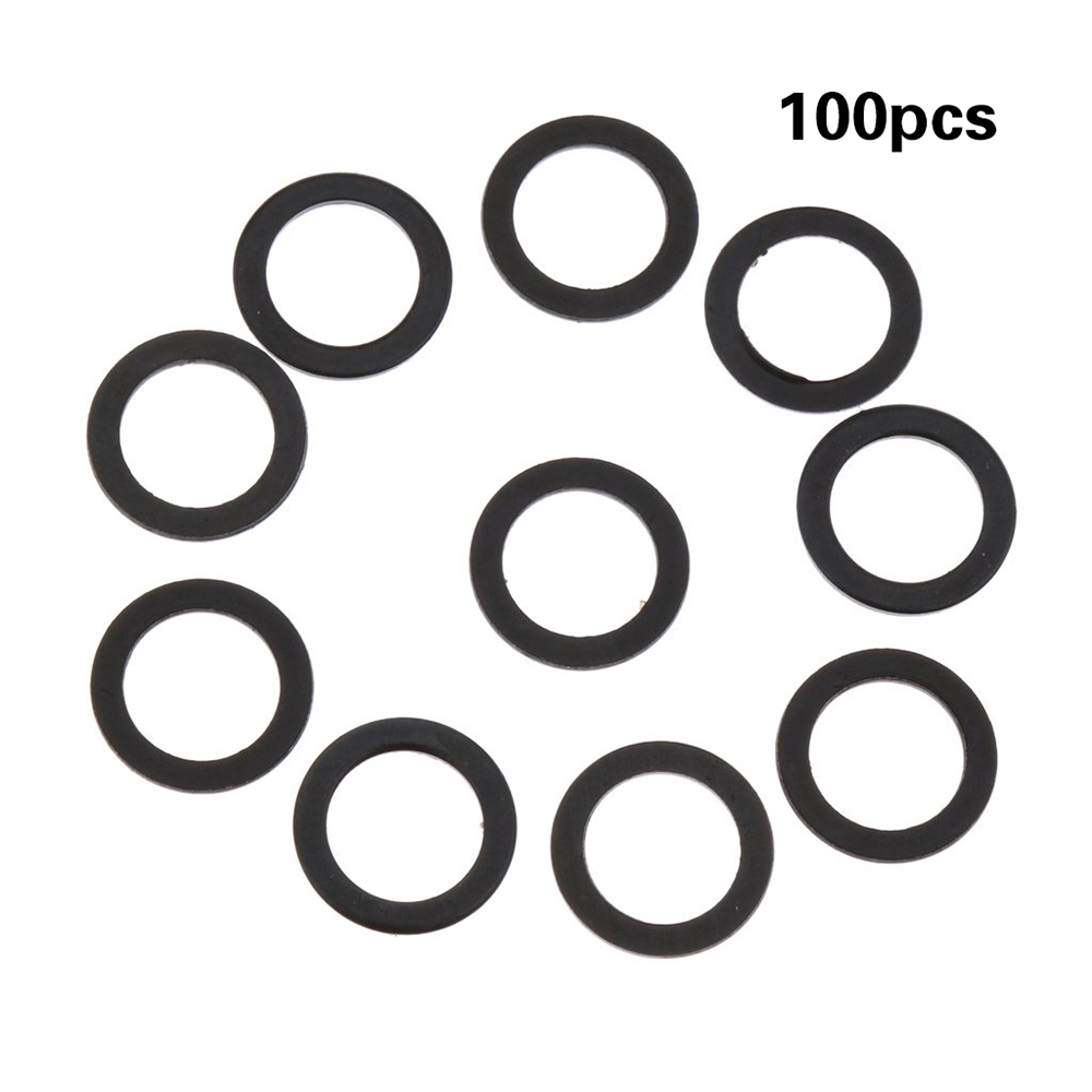 100pcs Screw Gasket Skateboard Support Accessory Fish Board Bearing Shim Aluminum O-Ring Black Washers For Longboard Cruiser