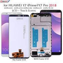 Màn hình Cho Huawei Y7 2018 LDN L01/LX3 Màn Hình LCD Hiển Thị Màn Hình Cảm Ứng Thay Thế Cho Y 7 Prime/Pro 2018 LDN L21/LX2 Kiểm Nghiệm Màn Hình LCD