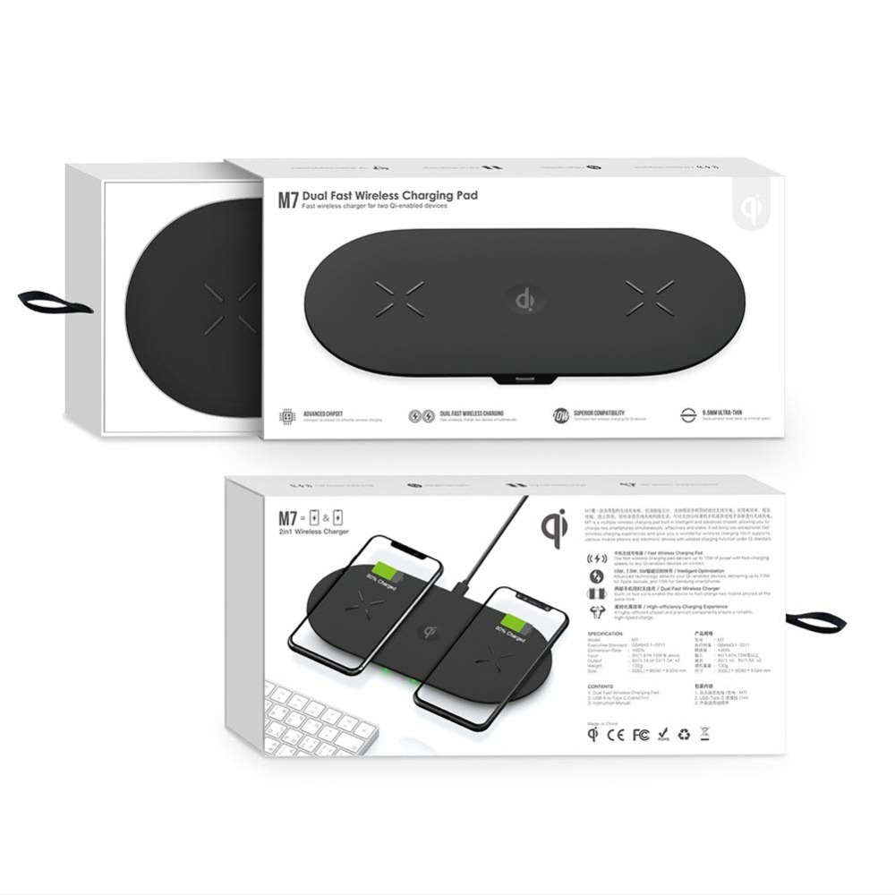 Bonola 3 In1 Wireless Charging Pad For iPhone 11Pro11XRXsMax Charger Dock For Apple Watch 5 Wireless Charger For AirPods Pro (9)