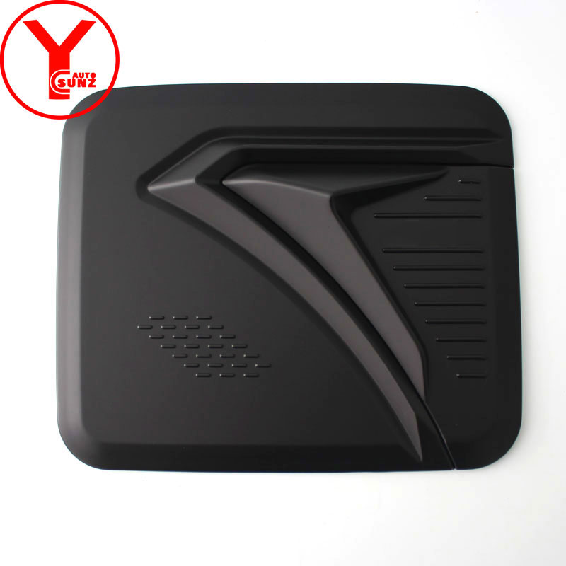 YCSUNZ ABS black fuel tank cover For nissan <font><b>nv350</b></font> urvan parts car accessories For nissan urvan Caravan <font><b>nv350</b></font> e26 2016 2017 2018 image