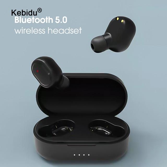 kebidu Sport M1 Bluetooth Headsets Wireless Earbuds 5.0 TWS Earphone Noise Cancelling Mic for iPhone Xiaomi Huawei Samsung