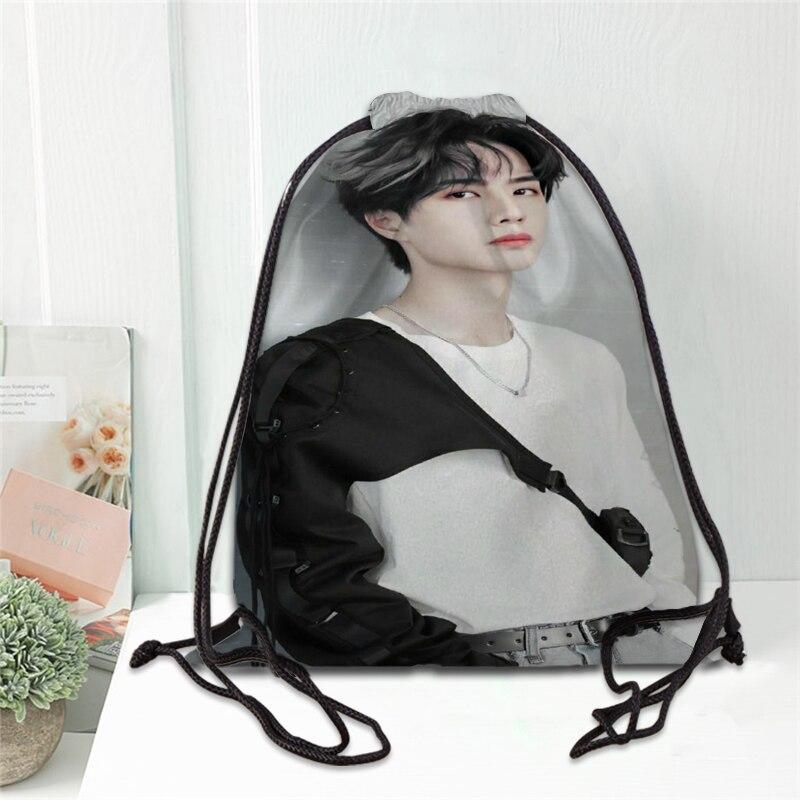 Hot Chenqingling Lan Wangji Wang Yibo Printed Backpack Drawstring Bag Satin Soft Shoe Bags To School Custom Logo Bags For Women