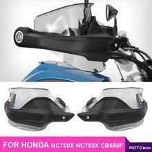 Motocicleta mão guarda handguard protetor à prova de vento moto engrenagem protetora para honda nc700 x cb650f ctx700 nc750x 2014-2018