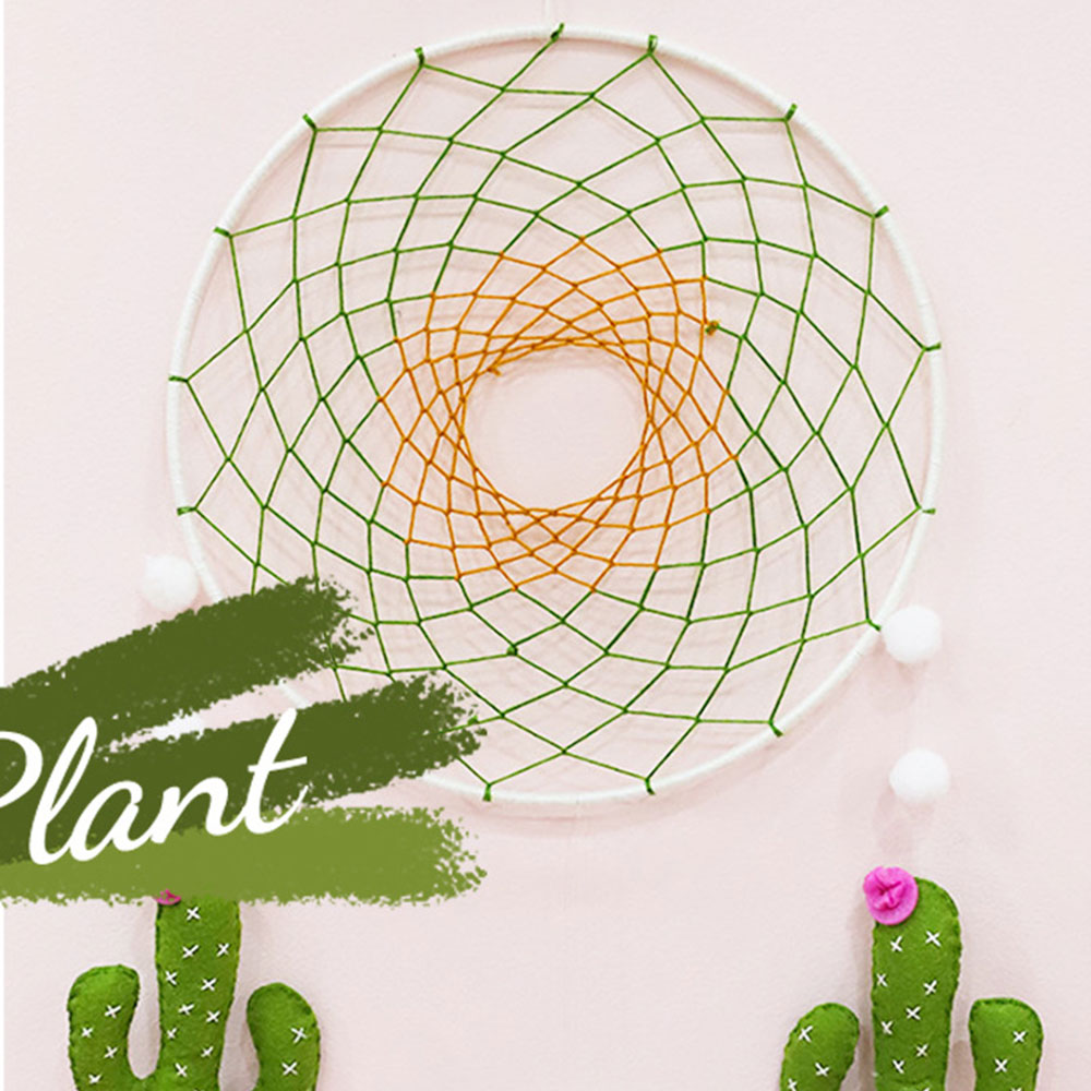 DIY Handcraft Non-Woven Dream Catcher Flower Felt Making Kit Handmade Cactus Bed Bell Toy For Children's Room Home Decor