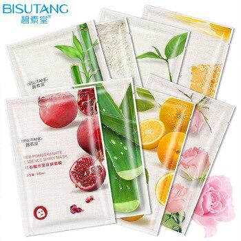BISUTANG Plant extract facial mask pa hydrating and moisturizing facial mask sheet Rose Orange essence shiny facial mask