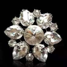 1 пара роскошных металлических кристаллических зажимов для обуви; стразы; очаровательные украшения для невесты; свадебные зажимы на высоком каблуке; декоративные аксессуары для обуви