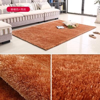 Tapis Shaggy doux pour salon haute qualité tapis en soie brillant Style nordique cheveux longs épaissi lavé tapis antidérapant tapis de chevet