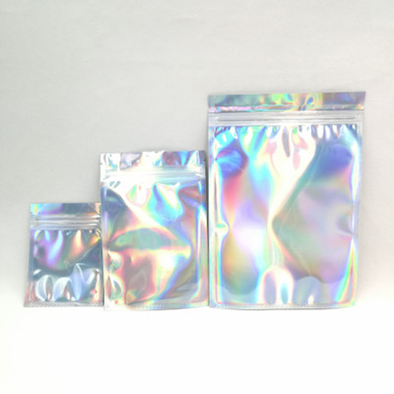 Packing Bag 10Pcs/Set Laser Sealed Bag Aluminum Foil Ziplock Bag Cosmetic Phone Case Data Cable Makeup Tools