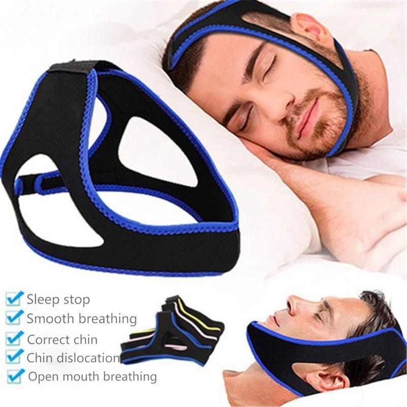 Chin Strap Anti-noise Belt Apnea Jaw Solution Support Sleep Stop Snoring Treatment Anti Buzz Comfortable Sleeping Care Tools