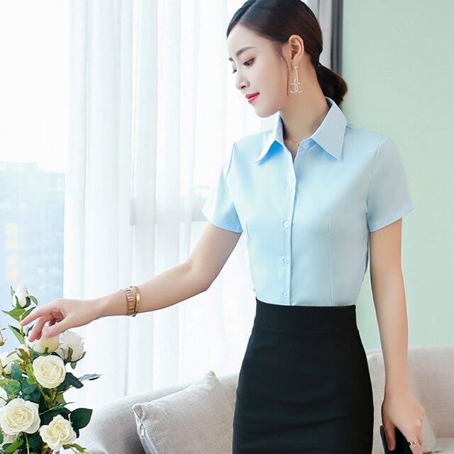 Korean Fashion Summer Cotton Women Shirts White Short Sleeve Women Blouses Ladies Plus Size 5XL Pink Womens Tops and Blouses 3