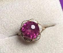 Натуральный 12*12 мм фейерверк розовый топаз драгоценный камень