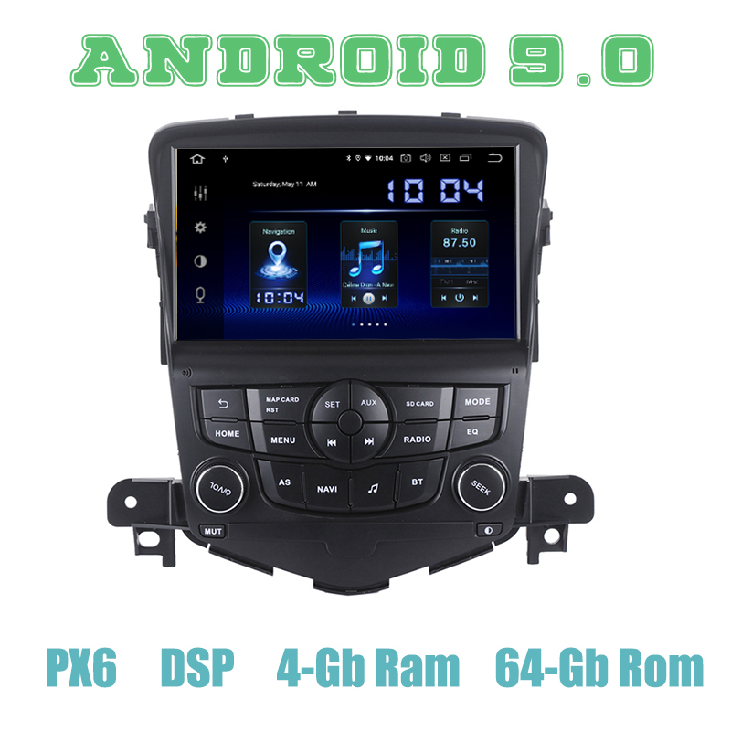 PX6 Android 9.0 Car GPS Radio player for <font><b>chevrolet</b></font> <font><b>cruze</b></font> 2008 2009 2010 <font><b>2011</b></font> 2012 2013 2014 with DSP 4+64GB Auto Stereo image