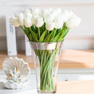 Bride-Bouquets Vase-Decor Tulip Artificial-Flowers Party Home Simulation Pu Wedding