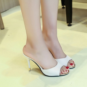 2020 Simple Stylish Women Slippers Thin Heels Women Shoes Solid Color HOT Women Shoes Pointed Toe Dress Shoes