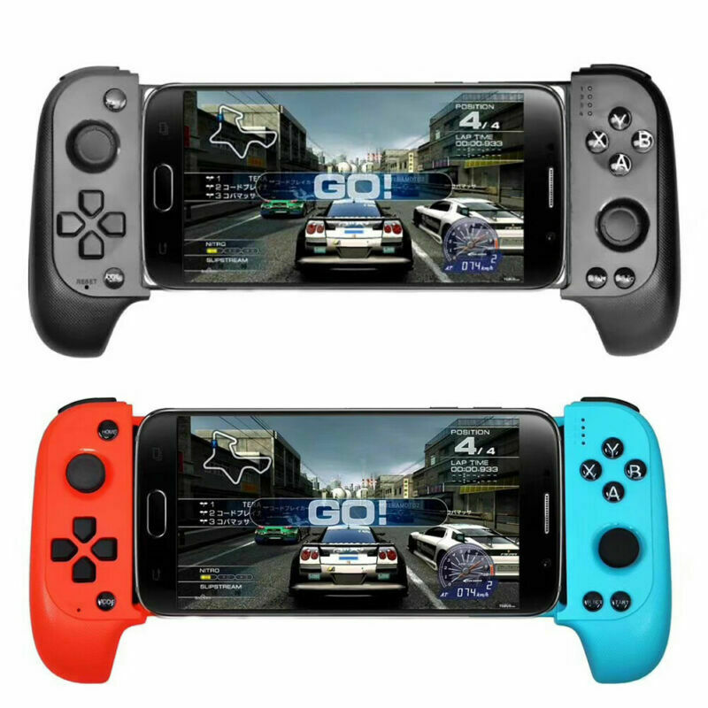 New Game Bluetooth Gamepad Joystick Mobile Game Controller For IOS/Android PUBG Black Red-Blue