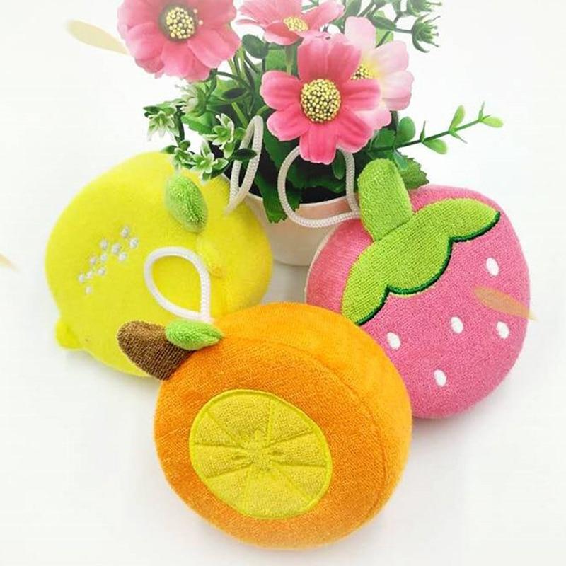 Baby Bath Wipe Child Bath Shower Ball Baby Fruit Shape Bathroom Products Baby Care Essentials Kids Gift