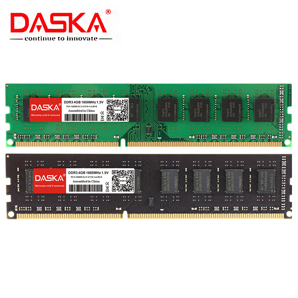 DASKA DDR3 Desktop Memory RAM with 8GB/4GB/2GB Capacity and 1600/1333MHz Speed 11