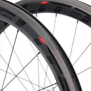 Image 5 - עלית 700C פחמן זוג גלגלי A2 AERO בלם משטח צינורי נימוק מכריע ללא פנימית פחמן כביש אופניים גלגלים עבור רכיבה על אופניים SLR 3.0