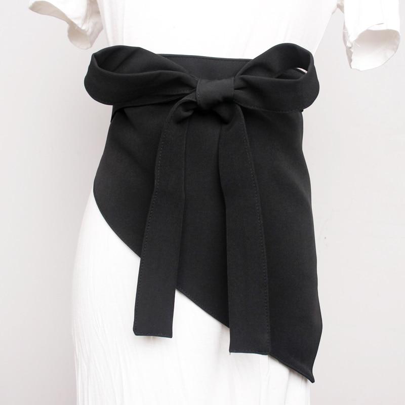 Long Black Women Wide Waist Belt Blazer Fabric Fashion Waist Belts Long Waistband For Women 2020 Summer Clothing Accessories
